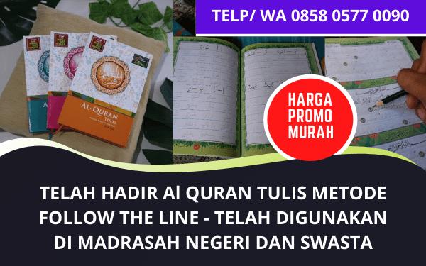 Sedia Al Quran Tulis Metode Follow The Line Murah