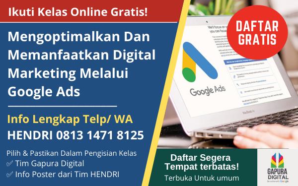Kelas Online Gratis Google Indonesia Gapura Digital