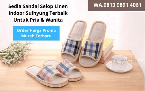 Sedia Sandal Selop Linen Indoor Suihyung Terbaik Murah