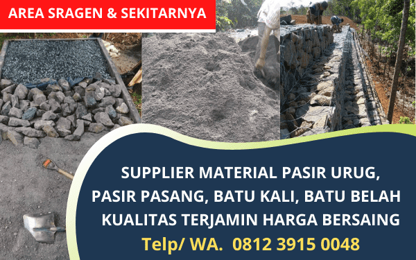 Supplier Material Bahan Bangunan Sragen, Karanganyar dan sekitarnya