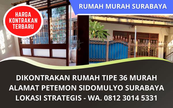 Rumah Dikontrakan Sidomulyo Surabaya Murah Nyaman