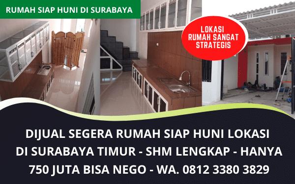 Jual Segera Rumah Siap Huni Murah Surabaya Timur